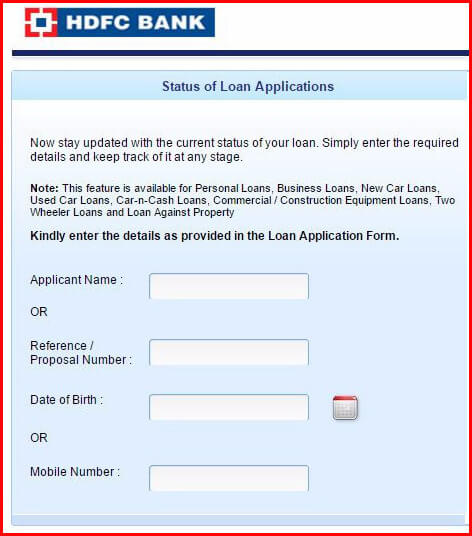 Hdfc Bank Car Loan Status Check