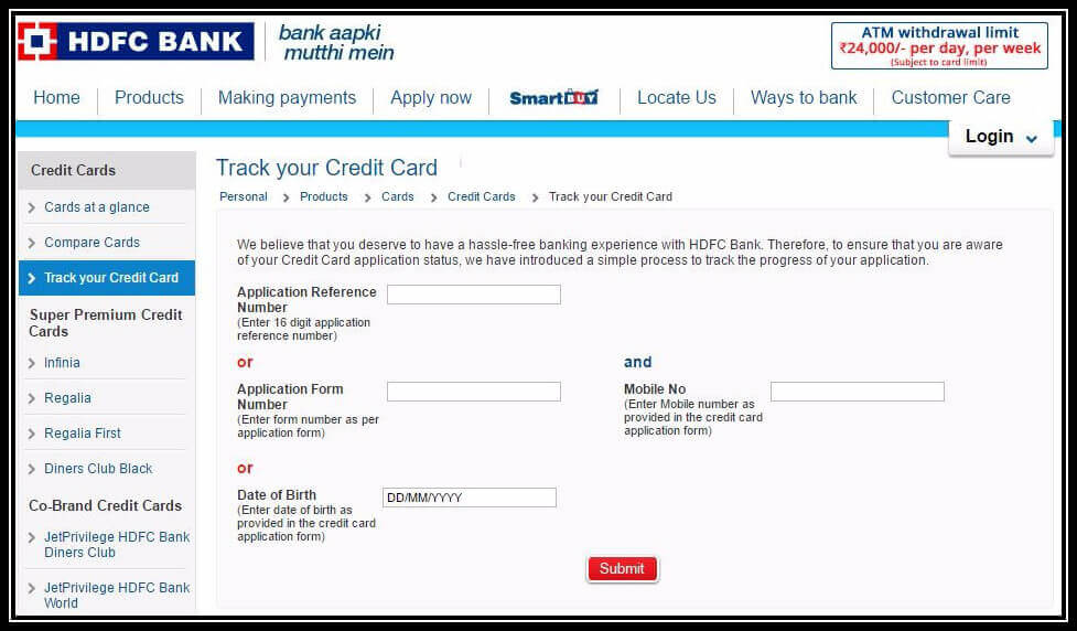 HDFC Credit Card Status: How to Track HDFC Card ...
