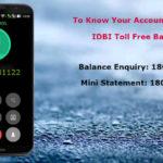 IDBI Missed Call Balance Check Number