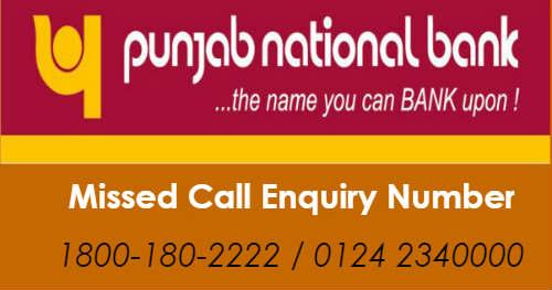 punjab national bank account balance enquiry