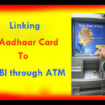 Link Aadhaar Card to State Bank of India Bank ATM Offline