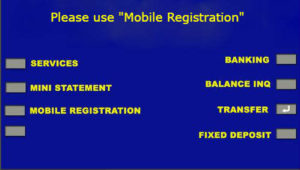 how to register mobile number in sbi atm