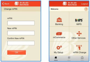 activate BOB mobile banking using M-Connect Application