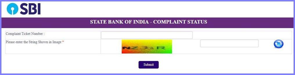 SBI Complaint Status – cms.onlinesbi.com