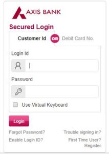 online method to link aadhar card with axis bank