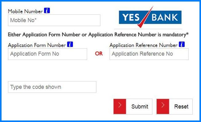 Yes Bank Credit Card Application Status